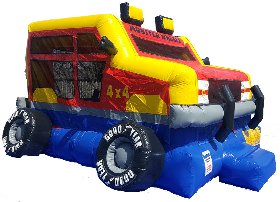 Monster Wheels Bounce House Side