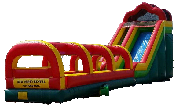 18 ft water slide with slip and slide side view