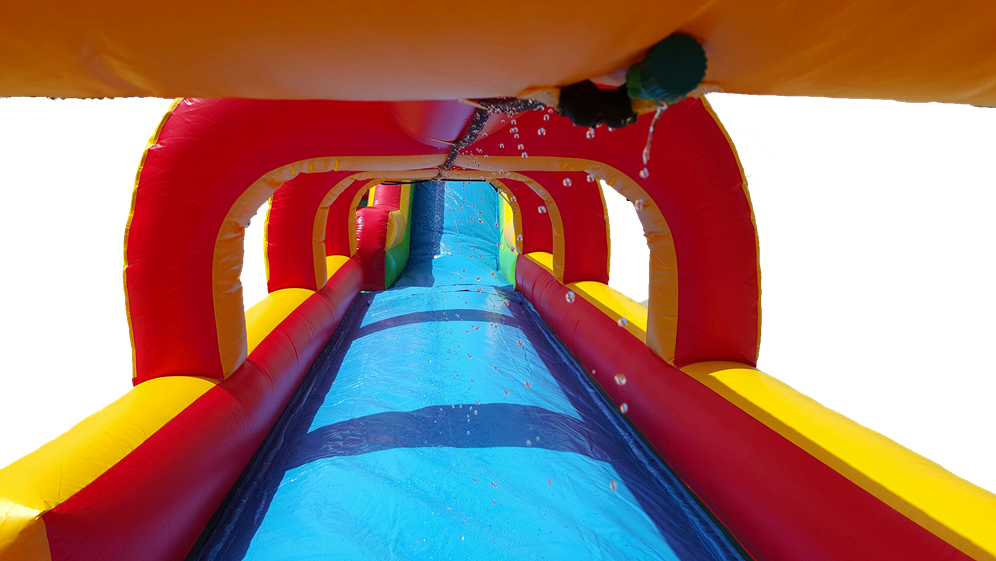18 ft water slide front view