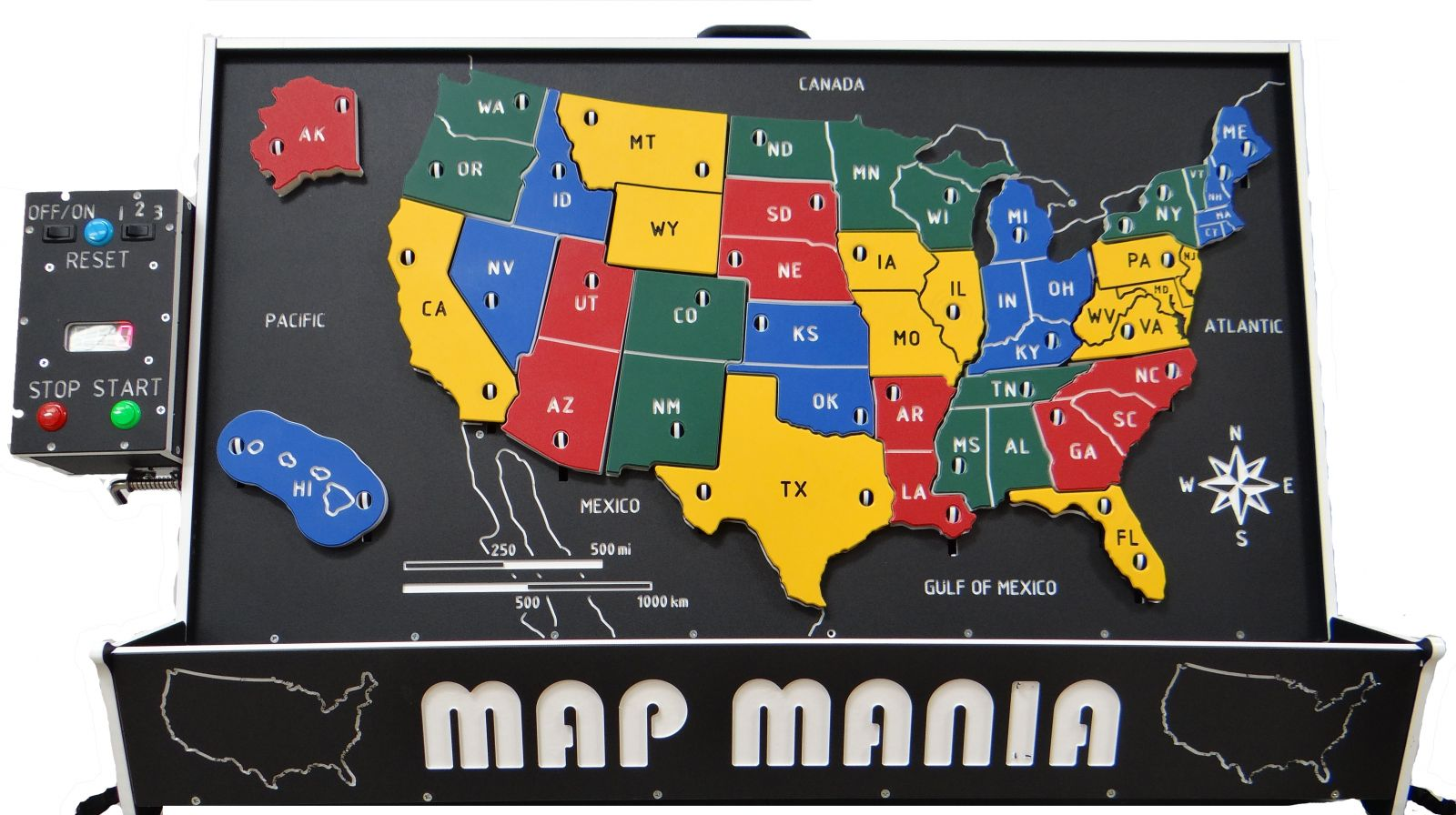 Map Mania Front View