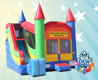 4 in 1 Castle Bounce House with Slide