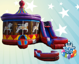 Carousel Water Slide Combo with Choice of Pool or Bumper