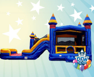 Arctic Melt Bounce House Dual Lane Water Slide