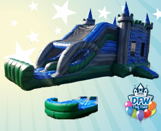 Emerald Castle Water Slide Combo with Choice of Pool or Bumper