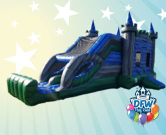 Emerald Castle Bounce House with Dual Slide