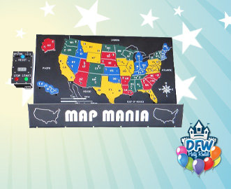Map Mania Electronic Educational Game - United States