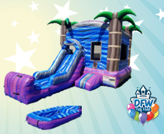 Purple Crush Water Slide with Choice of Pool or Bumper