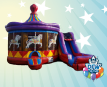 Carousel Bounce House with Slide