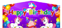 Unicorn Happy Birthday Art Panel