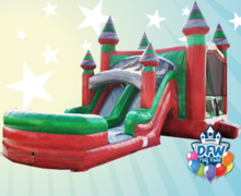 Theme-able Midnight Castle Dual Lane Waterslide