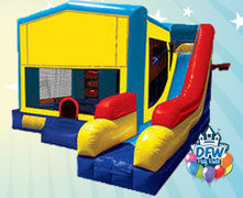 Theme-able Obstacle Bounce House with Slide
