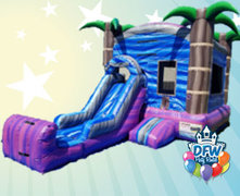 Purple Crush Bounce House with Slide
