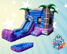 Purple Crush Water Slide Combo with Choice of Pool or Bumper
