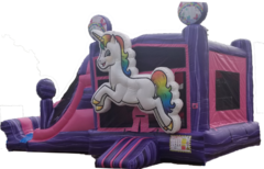 Purple Unicorn Combo Water Slide
