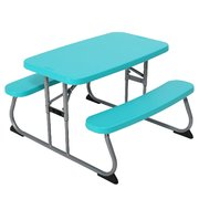 Kids Blue Picnic Table