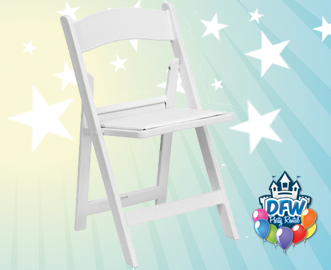 Stupendous White Resin Folding Chair Rental Dfw Party Rental Frisco Tx Squirreltailoven Fun Painted Chair Ideas Images Squirreltailovenorg