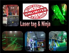 Unlimited Laser Tag & Ninja Party Package $270     First 10 players
