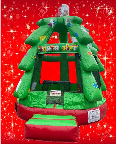 Christmas Tree Santa Bounce House