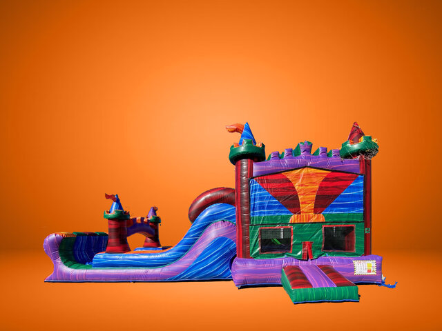 Jeweled Castle Bounce Double Slide
