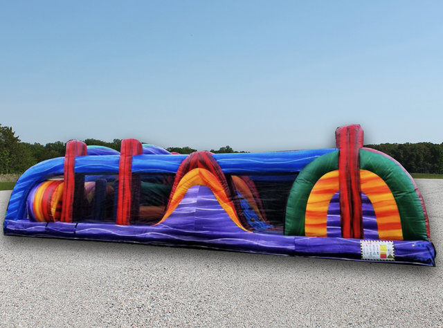 40ft Marble Craze Double Lane Obstacle Course DRY