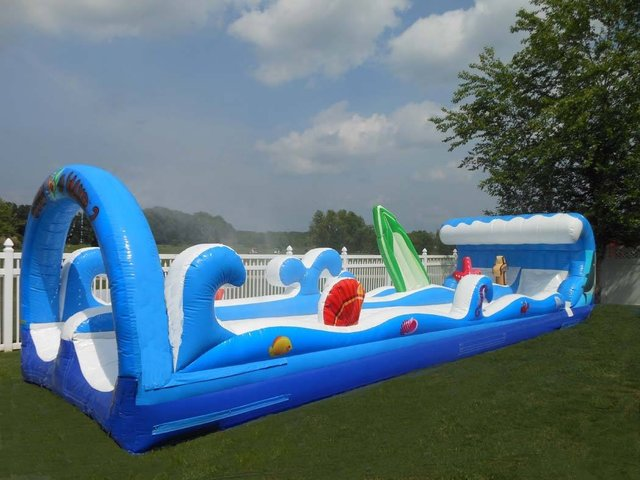 Double Lane Surf Splash Slip N Slide