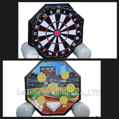 Giant Soccer Darts & Baseball Diamond (Two sides)