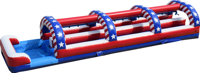 All American Double Lane Slip n Slide w Pool