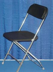 Black Silver Folding Chairs