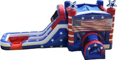 Old Glory Bounce House w  Double Slide