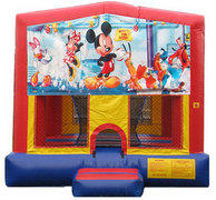Mickey Mouse and Minnie Mouse Bounce House