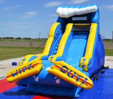 17' Wipe Out Water Slide