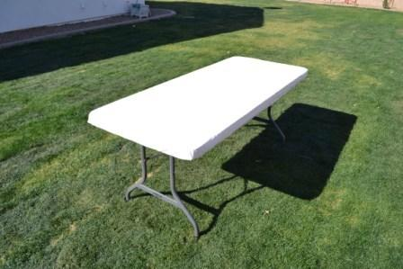 Kwik Table Covers- 6ft White.