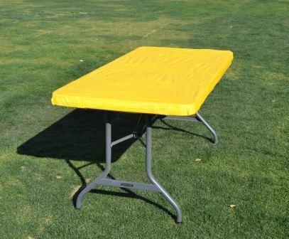 Kwik Table Covers- 6ft Yellow.