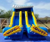 Dual Lane Wipeout Waterslide.