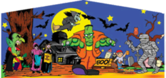Halloween 2 Panel Blue