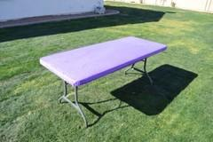 Kwik Table Covers- 8ft Purple.