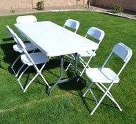 Table & Chairs Set (call if not renting with inflatable)-  White
