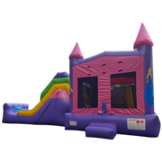 Princess Bounce and Water Slide Combo