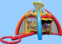 World of Sports 4 in 1 inflatable game center