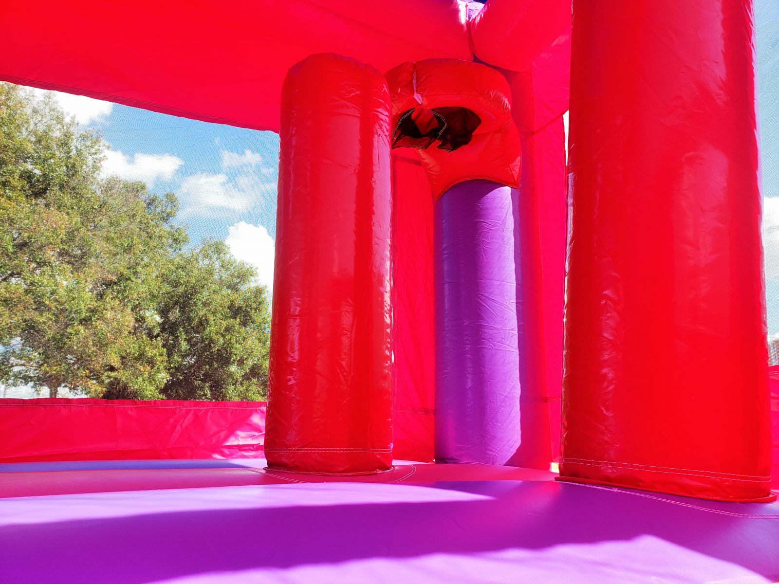 Pink And Purple 5 In 1 Castle Combo Bounce House Tampa