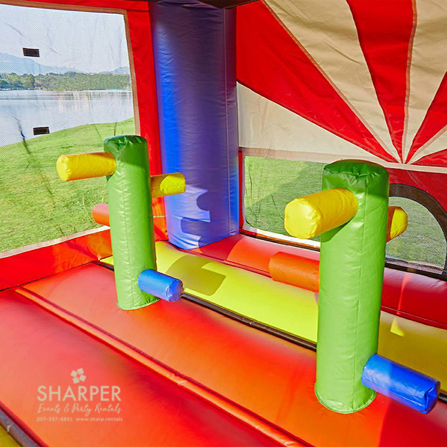 Inflatable Water Slide Safety Rules: Ninja Fortress Inflatables Combo Bounce House And