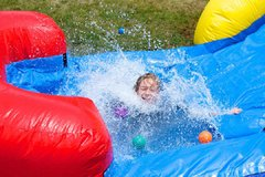 Wet Bounce House Jumpers with Slides