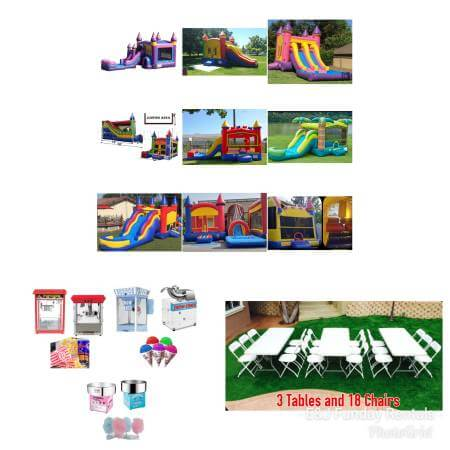 Bounce House with Slide Party Package