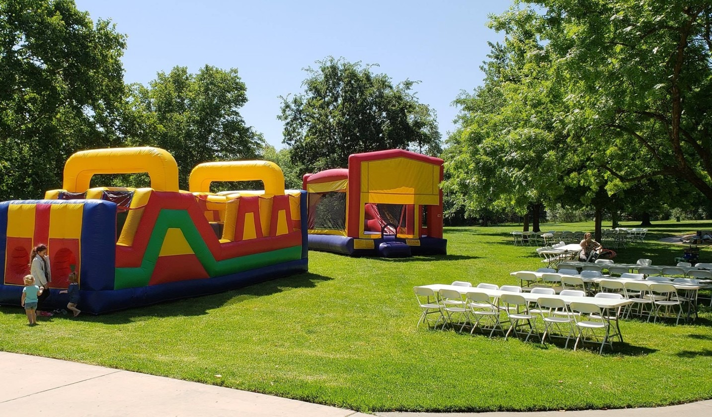 Bounce House Party in a Park EJ Funday