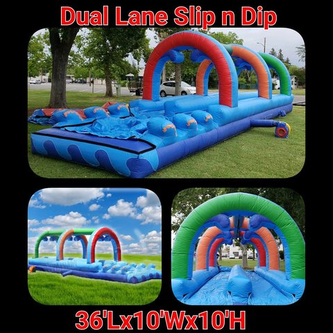 4th of July 36ft Dual Lane Wave Slip n slide