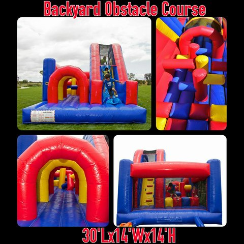30ft Obstacle Course Red and Blue