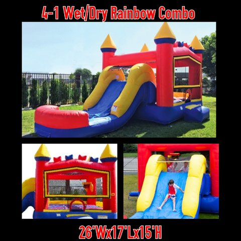 4th of July 5-1 Wet Rainbow Bricks Athletic Combo in Red, Yellow, and Blue