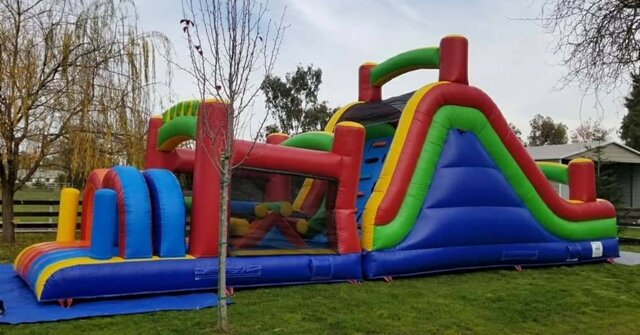 40ft Rainbow Obstacle Course