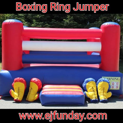 13x13 Boxing Ring Bounce House with Gloves