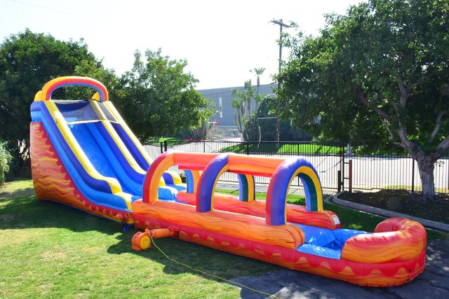 Turbo Water Slide w/Slip n Dip attached
